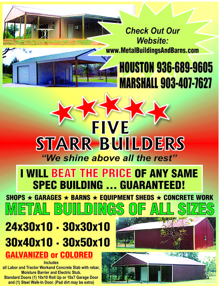 Five Staar Builders Ad